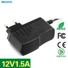 DHL/Fedex 100PCS Power Adapter Wireless ADSL Router 12V1.5A Switching EU Plug Power Adapter