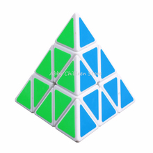Brand New Pyramid Magic Cube Pyraminx Speed Puzzle Cube Game Cubos Magicos Triangle Shape Twist Puzzle Children Kid Toy