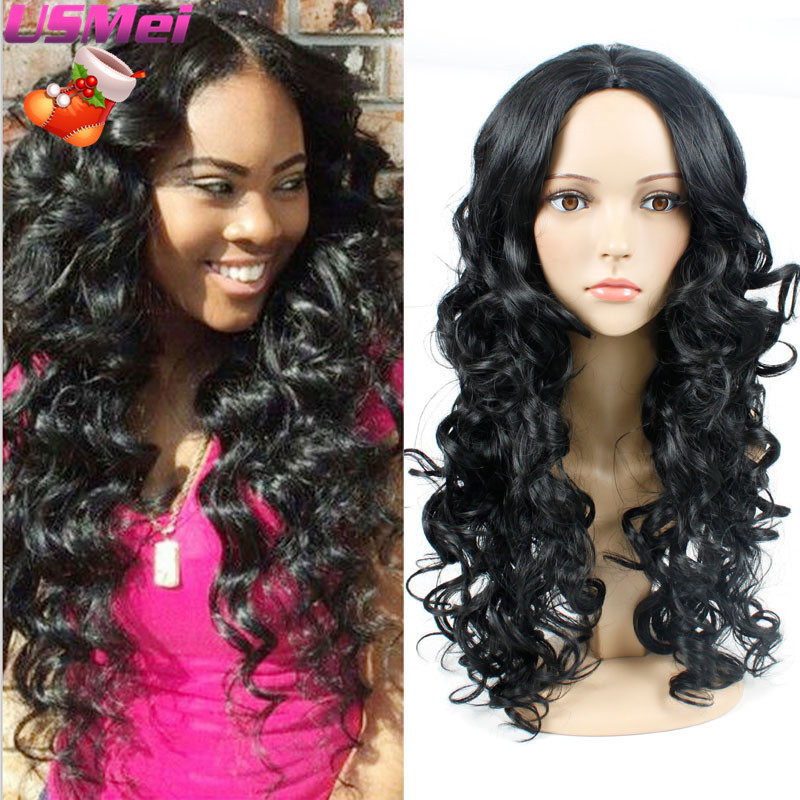 Freetress Hair Goldway Perruque Cheveux Synthetic Long Black Wavy Hair Wig Box Braid Wig Cheap Wigs Synthetic for Black Women<br><br>Aliexpress