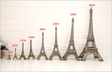 New Household Metal Crafts Bronze Paris Eiffel Tower Figurine Statue Vintage Alloy Model Decor 5/10/13/18/25/32cm