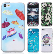 AKABEILA Cell Phone Case For Apple iPhone 5C Cover iphone5C 4.0 inch silicone Case Shield Cases Smartphone Soft TPU Hoods SCAH03(China)