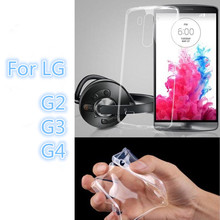 Thin Slim 0.3mm Clear Transparent Soft TPU For LG G2 Case For LG G2 G3 G4 Cell Phone Back Cover Case