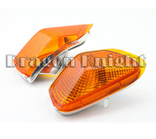Motocycle A Pair Of Turn Signals Indicator Light Blinker Lens Front For KAWASAKI ZZR 400 1990-1992 Amber