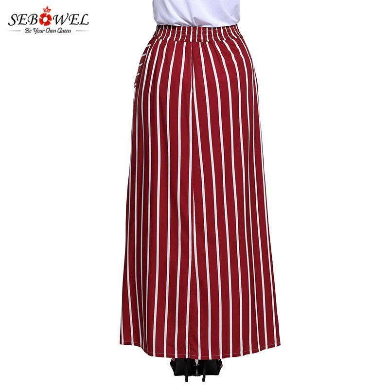 Burgundy-Striped-Maxi-Skirt-LC65037-3-4