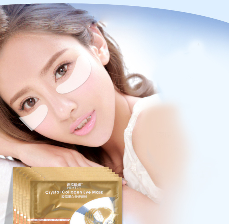 5Pairs Collagen Crystal Eye Mask Collagen Eye Patch Under Eye Dark Circle Remover Pilaten Gold Mask Moisturizing Anti-Puffiness 10