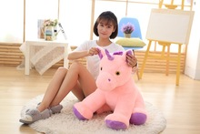 new lovely plush horse toy creative sitting pink horse doll gift about 60cm