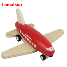 New wooden mini airplane models kit wood pull back plane baby learning & education toys gifts for children