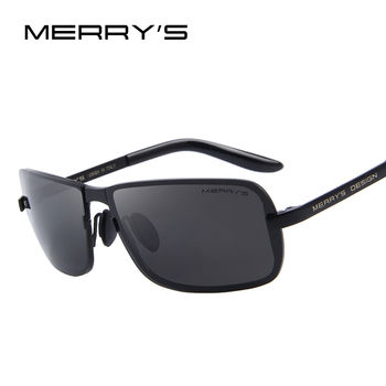 Merry's design clássico homens cr-39 óculos de sol hd s'8722 shades uv400 polarizada óculos de sol de luxo