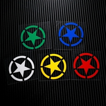 NO.LS001 Five-point star Military Reflective Safe Caution 3M Car Stickers Decals Motorcycle MOTO GP Motocross Helmet Windshield(China)