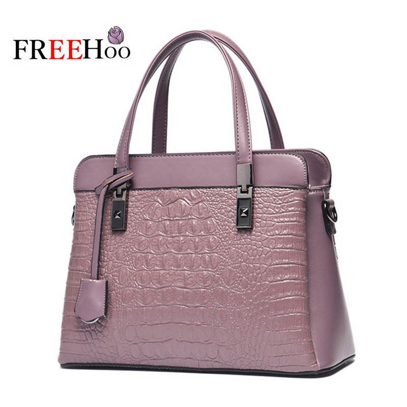 Europe and the United States new luxury brand casual crocodile pattern female bag handbag single shoulder oblique cross pack<br>