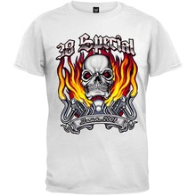 2018 Print T Shirts Short Printing 38 Special - Skull Flames 07 Tour T-Shirt Summer sportwear casual t-shirt(China)