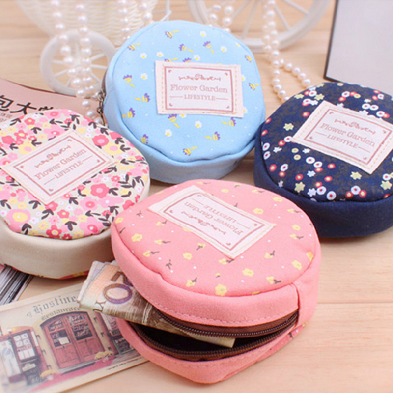 DreamShining Korean Ladies Style Coin Purse Canvas Material Coin Case Round Lovely Creative Printing Patterns Wallet For Coins<br><br>Aliexpress