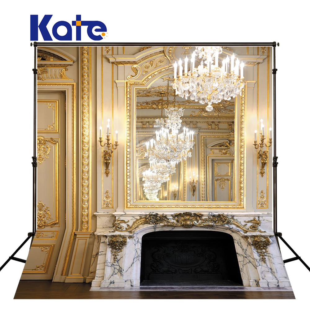 Kate Children Photography Backdrops Christmas Indoor Fireplace Christmas Tree Photo Studio Wood Floor Background Backdrop<br>
