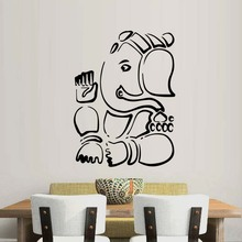 Ganesha Lord Wall Stickers Indian Elephant Animal Vinyl Art Wall Decals Home Decor Bedroom Living Room Art Poster Mural