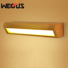 Japan nordic wood wall light foyer bedside study desk above reading lamp bathroom mirror lights