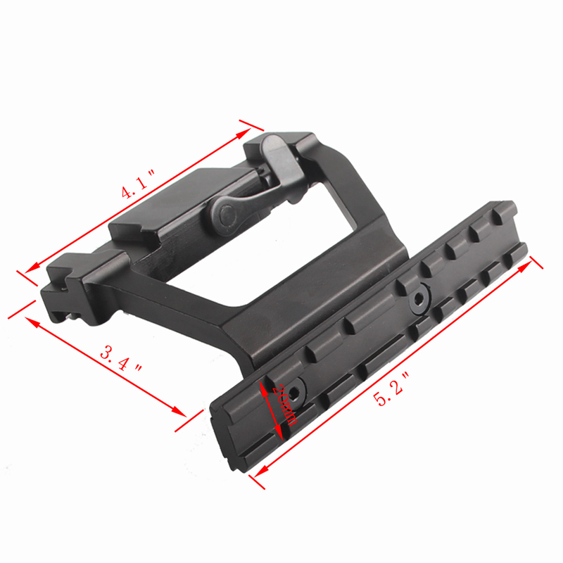 AK Mount 47 74 SVD Side Rail QD Scope Sight Torch Attachment 20mm Airsoft RL2-0022-7