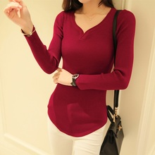 Women's Autumn Winter Cashmere Sweaters Ladies Patchwork Pullovers Female V-Neck Knitted Soft Warm Cashmere Pullovers Feminino