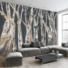 beibehang Scandinavian modern abstract hand painted tree background wall custom large mural nonwoven wallpaper papel de parede
