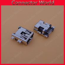 50pcs Mini USB connector B type 5pin SMT sink 1.7 USB socket female jack 2.0 replacement repair parts dock plug 5 pin(China)