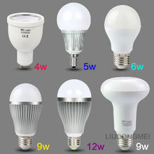 2016 New Arrival Original Mi Light Dimmable 110V 220V CW/WW  RGBWW E27 E14 GU10 4W 5W 6W 8W 9W 12w Smart LED Bulb Lamp Lighting