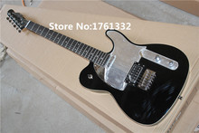 hot sale factory custom black TL electric guitar with 2 pickups,mirror surface pickguard,can be cusomized as your request