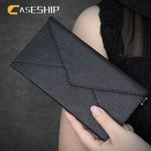 CASESHIP Wallet Case Cover For Xiaomi Redmi Zipper Genuine Leather Hand Bags Universal For iPhone 6 6S 7 7 Plus Mobile Phone(China)