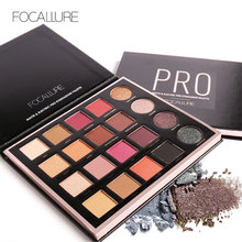 FOCALLURE Magic 20 Colors Professional Matte Eyeshadow Waterproof Shimmer Powder Nude Pigment Glitter Eye Shadow Makeup Palette(China)