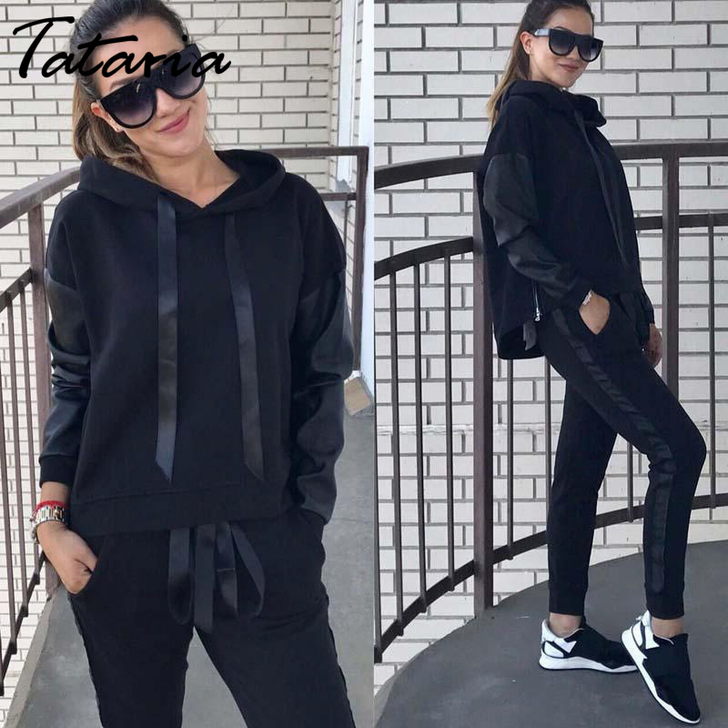 Two Piece Set Top And Pants Long Sleeve Sweatshirts Casual Suit  Tracksuit For Women Sweatsuits Spring 2019 2 Piece Set Women