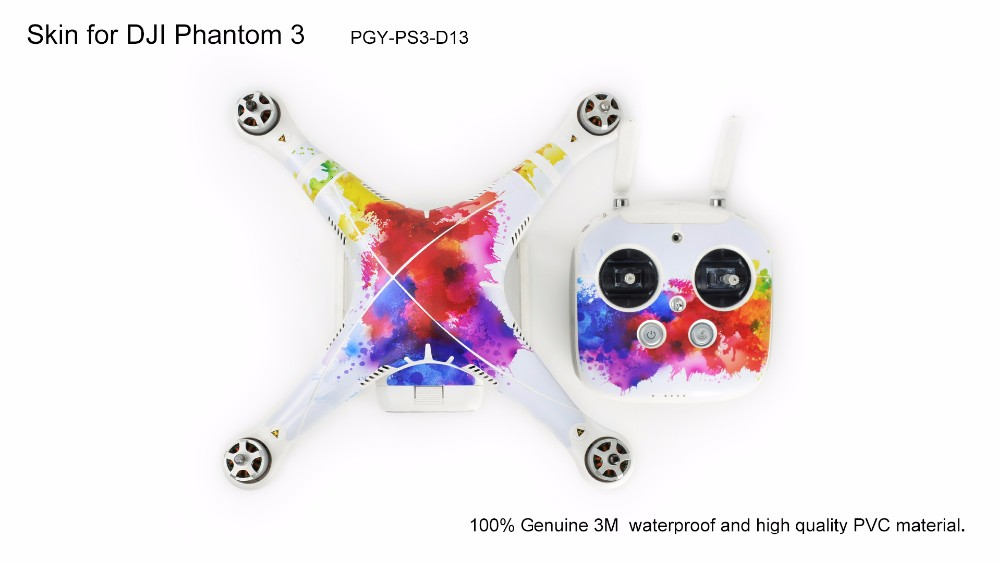PGY DJI phantom 3 accessaries stickers decals labels Graphic Wrap Skin 3M Sticker Cover For Phantom3 professional Drone parts<br><br>Aliexpress