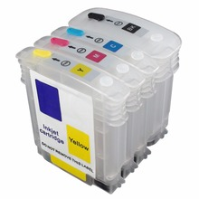 CEYE Refillable Ink Cartridges Kit For HP10# 11#  Color Inkjet CP1700/D/PS Officejet 9100 9110 9120 9130 HP1000 4PCS