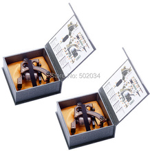 Freeshipping 2pc/Lot New Danny Brass Tattoo Machine Gun shader&liner 10 12 Wrap Coil Equipment Set with 2pc beatiful packing box(China)