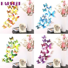 1 Set 3D DIY Wall Sticker Stickers Butterfly Home Decor Room Decorations New feb15
