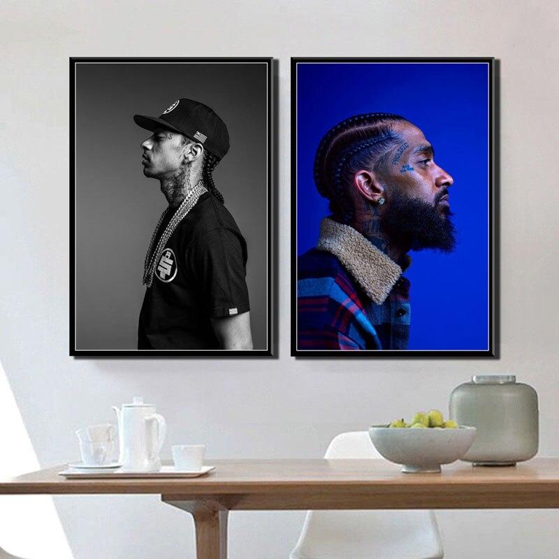 Rap Niggas Nipsey Hussle New Custom Silk Poster Art Wall Decor