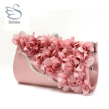 Buy new color crystal evening day clutches flower wedding bags evening bag full dress party handbag bride bag purse lady gift 99t for $19.79 in AliExpress store