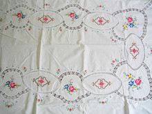 Leptonema handmade cross stitch table cloth bed cover embroidery table cloth fashion