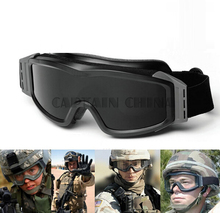 Hot Sale 3 Lens Army Profile Glasses Military Tactical Goggles Protection Glasses For Wargame Motorcycle(China)