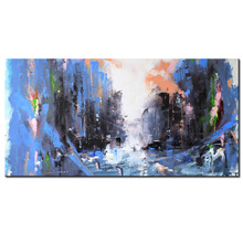 1 Pcs Abstract Wall Art Canvas Print Painting Blue Black Graffiti Street Artwork Piccture for Lving Room Decor Large(China)