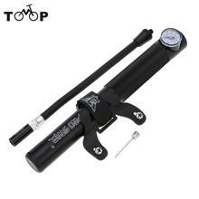 Double Action Hand Pump Bike Tire Ball Inflator High Pressure Bike Pump Air Pump with Pressure Gauge Presta &Schrader Compatible