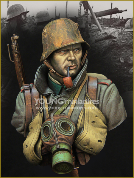 1/10 Resin Character Bust The First World War Assault Troops GARAGE KIT Figure Model<br>