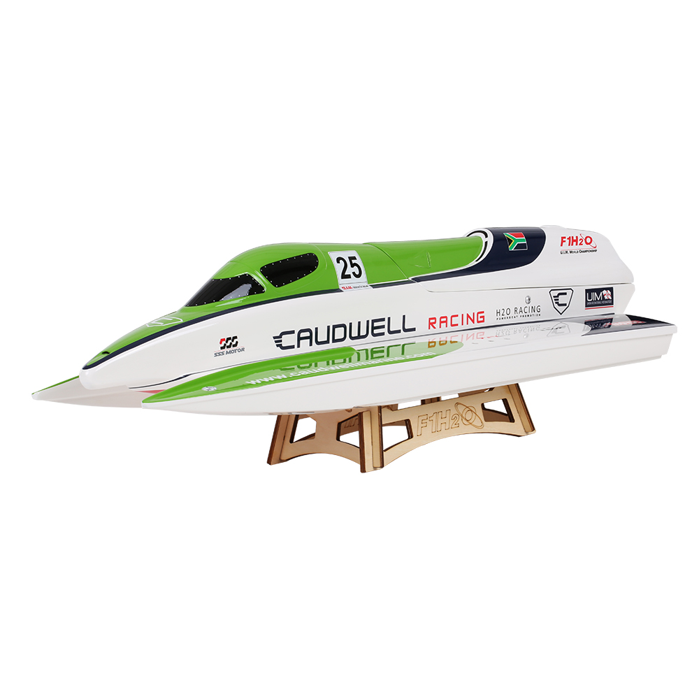 Clearance 1138 Caudwell F1 2.4G Racing Brushless Electric Water Cooling Speedboat Fibre Glass RC Boat Highest Speed 60km/h(China (Mainland))