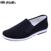 New 2014 black cloth shoes men round mouth loafers casual cotton cloth shoes male kung fu shoes fashion Man flats