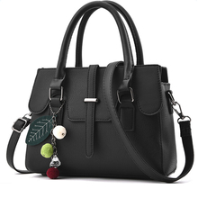 SFG HOUS Women Fashion PU Leather Handbags Ladies Office Work Shoulder Bag Crossbody Bag 2017 Female Tote Messenger Bag Black