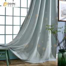 DIHIN 1 PC Embroidered Treatments Sheer Curtains for Living Room the Bedroom Kitchen Panel Drapes and Blinds