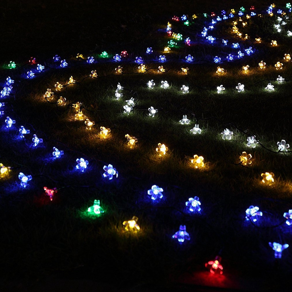 OSIDEN Solar String Lights 8M 60led Peach Flower Waterproof Outdoor Decoration Lighting XAMS Fariy Christmas Lights Garden 4