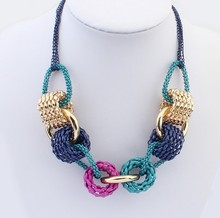 BS1981 Europe and USA Bohemia knitting cylinder female long necklace for women personality(China)