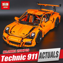 LEPIN 20001 20001B New technic series 911 Race Car Model Building Kits Blocks Bricks Compatible 42056 For children birthday Gift