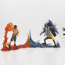 2pcs/set Anime figure one piece action figure Portgas D Ace VS Marshall D Teach pvc action figure collectible model toys(China)