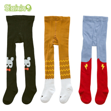 3Pair/lot Infants Clothing Kids Toddler Tights Kawaii Boys Girls Tights Pantyhose Soft Cotton Baby Children Stocking For 0-3 Y(China)