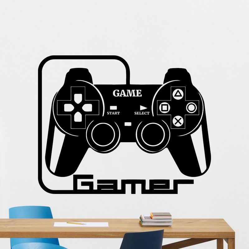 DCTAL Game Handle Sticker Gamer Decal Gaming Posters Gamer Vinyl Wall Decals Parede Decor Mural Video Game Sticker