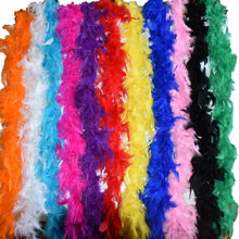 Length 2 Meter Turkey Feather Boas Lady Scarf for Clothing Accessories Wedding Decorations Centerpieces Feathers IF28